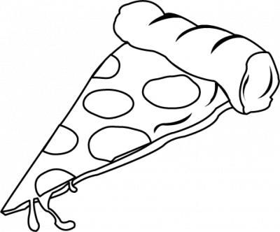Pizza Slice Clipart Black And White 78 Pizzaslice Png 400 332