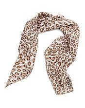 Jagged leopard print scarf