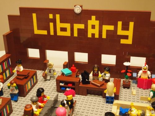 thepinakes:The Library in Lego Form Mr. Library Dude has topped his Lego Librarian Personalities post with a complete lego library with staff and patrons. Explanation, photos, and video on his blog.