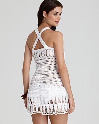 Nanette Lepore Crochet Short Dress | Bloomingdale's