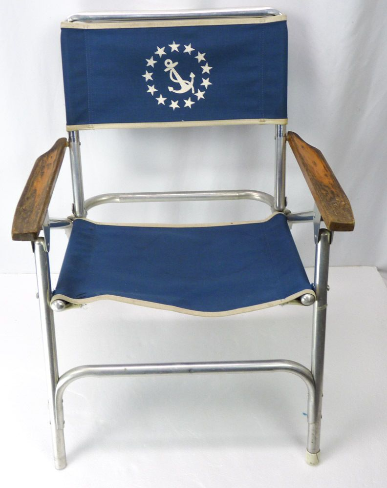 Vtg Aluminum Folding Chair US Navy Anchor Print Fold Up Blue Canvas Wooden  ArmsVtg Aluminum Folding Chair US Navy Anchor Print Fold Up Blue  . Pantone Folding Chairs For Sale. Home Design Ideas