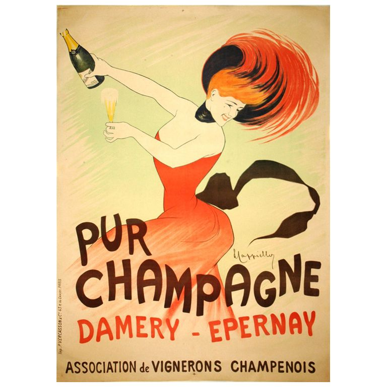 French Champagne Poster Vintage French Posters Vintage Advertisements Wine Poster