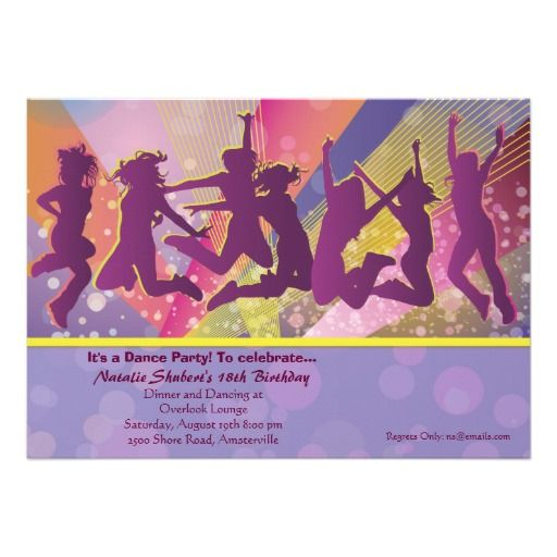 Its a party invitation party invitations and dance birthday parties dance birthday parties its a party invitation stopboris Gallery