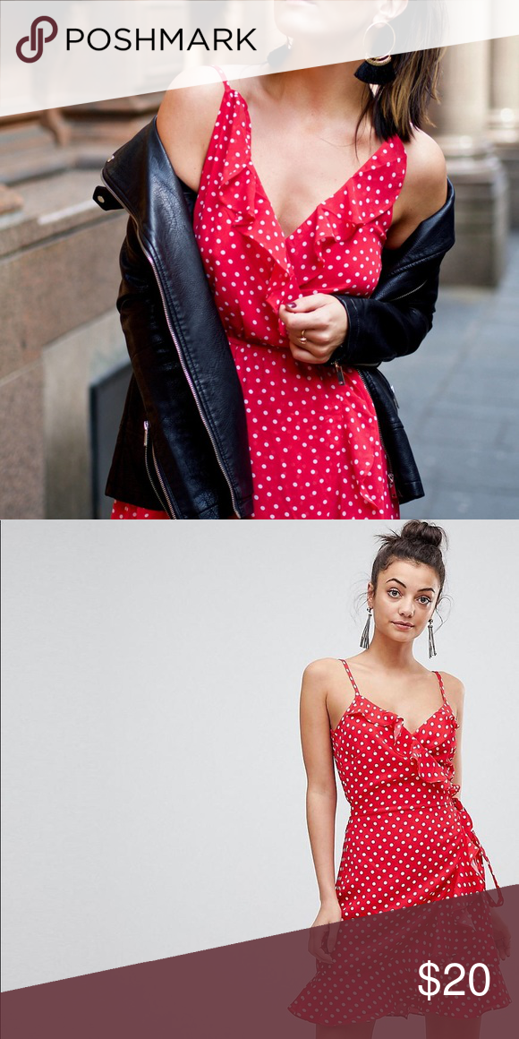 433b357a7e9 Asos red polka dot wrap dress Brand new with tags. ASOS Maternity Dresses