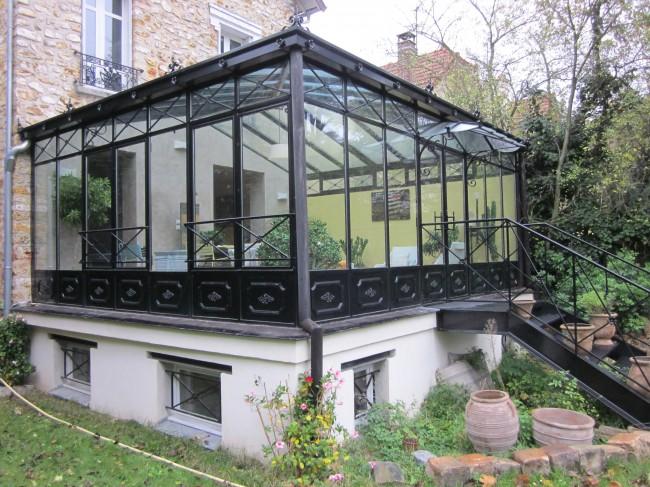 L'art et la qualité des vérandas à l'ancienne en acier et fer forgé | Extension maison ...