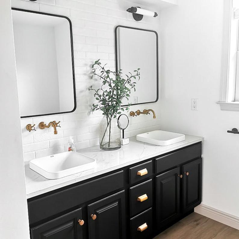 Modern Vanity Light Tube Light Opal Glass Mirror Light Vanity Mirror Lamp Black Vanity Light Tubular Art Deco Model No 9304 Black Vanity Bathroom Modern Vanity Lighting Black Vanity Light