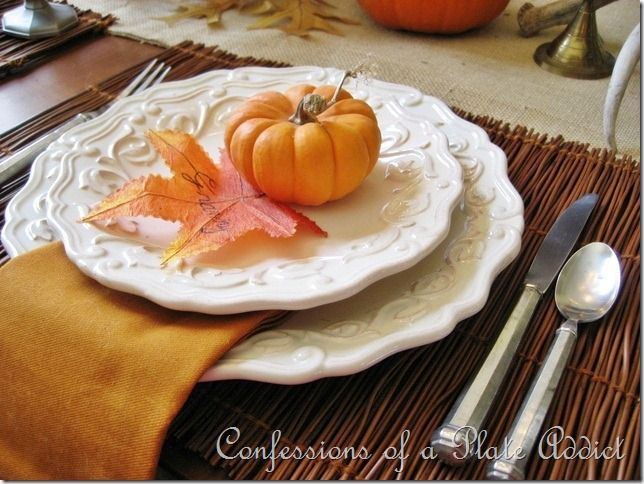 My Rustic Thanksgiving Tablescape...Pumpkins and Pewter | White ...