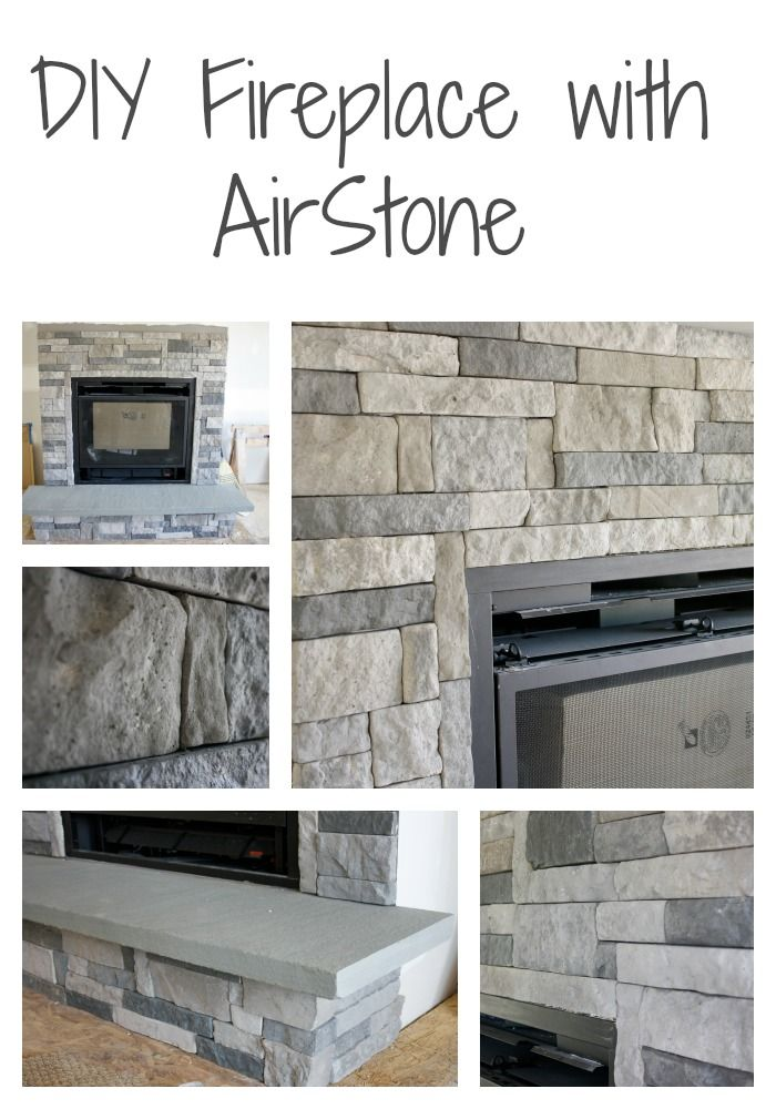Diy Stone Fireplace With Airstone Airstone Dark Colors