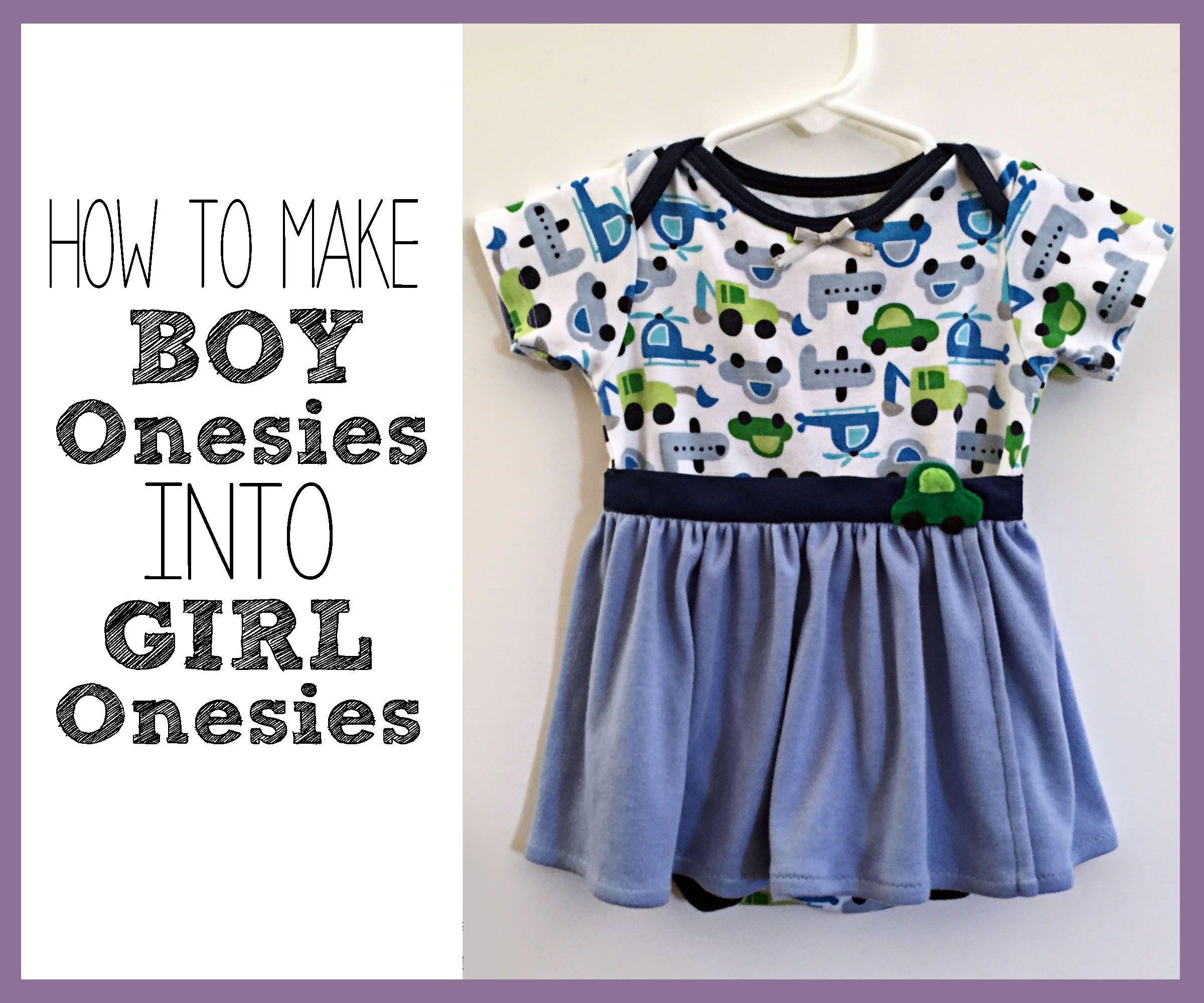 7 Simple Ways to Make Boy Onesies into Girl Onesies