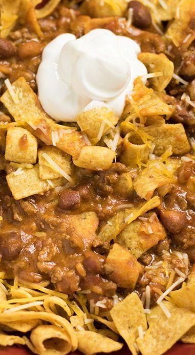 Crockpot Frito Chili Pie