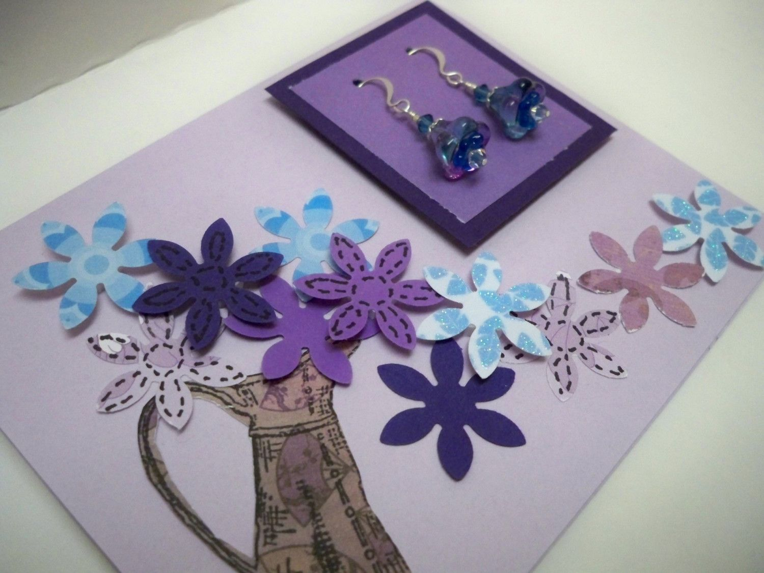 Handmade Greeting Cards For An Extra Special Person  Purple earrings ...