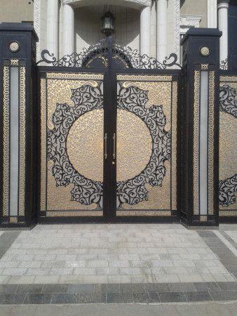 ابواب حديد فخمة خارجية Main Gate Design Modern Main Gate Designs Gate Wall Design