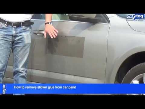 How To Remove Sticker Glue From Car Paint With Images Car