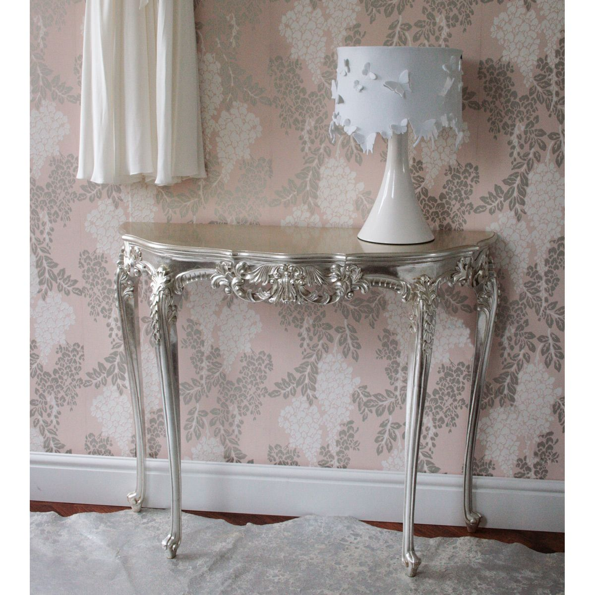 Sylvia Silver Console Table Console Tables Tables French