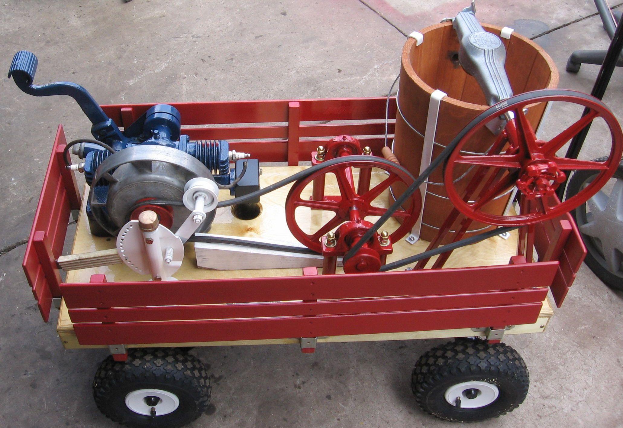 Recycle Vintage Washing Machine Gas Motor To Make Ice Cream Yum Yum Vintage Washing Machine Recycled Vintage