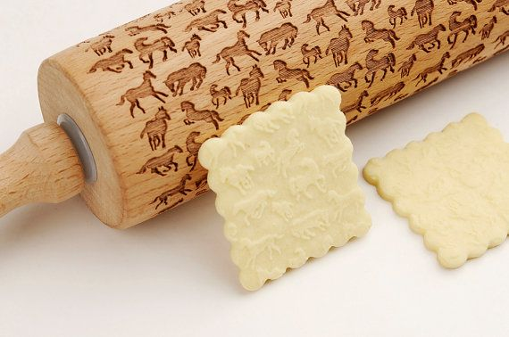 Decorative Rolling Pins With Horses On It Horse Embossing