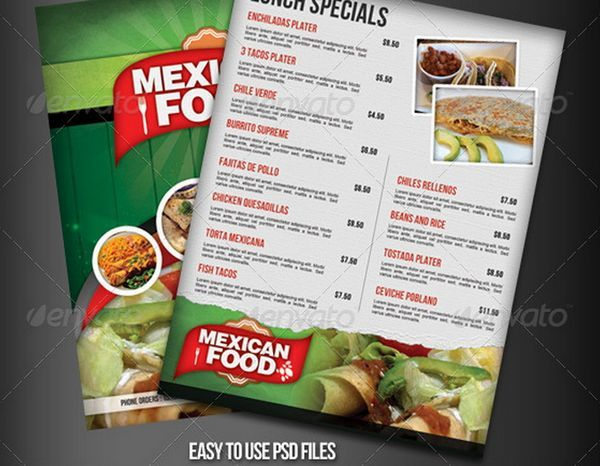 mexican restaurant flyer - Google Search Design Concepts Pinterest - food menu template