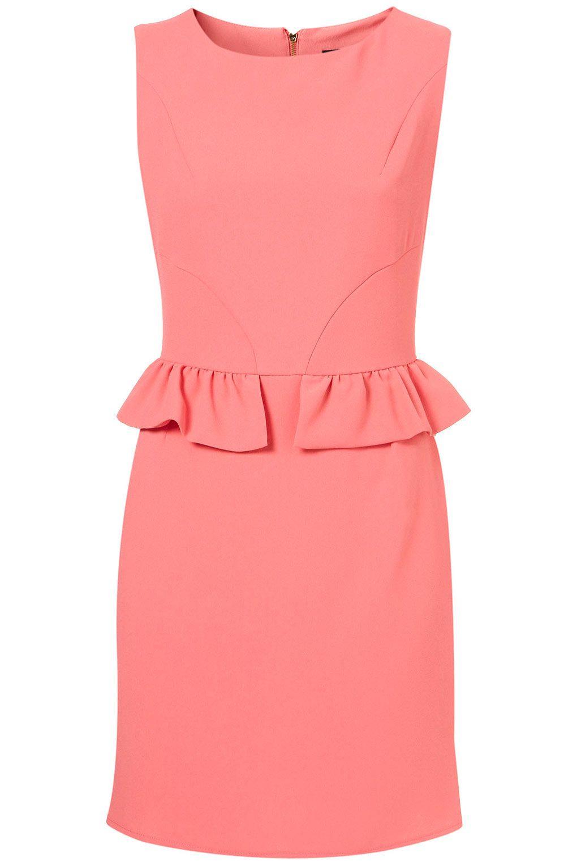 Mini Peplum Pencil Shift Dress - Dresses - Clothing - Topshop ...