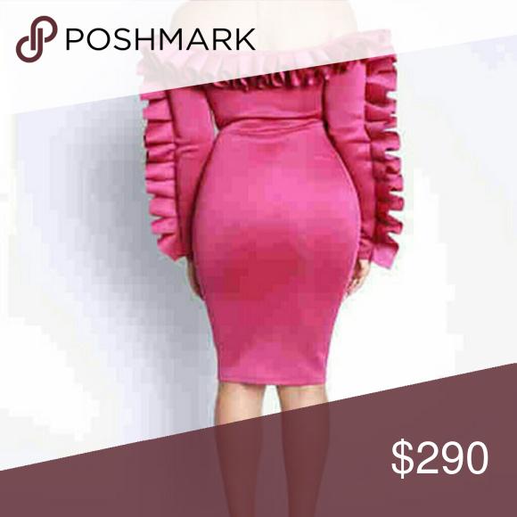 3144837113cf Stunning off shoulder dress Wine pink off shoulder Ruffed prom dress. Dresses  Midi
