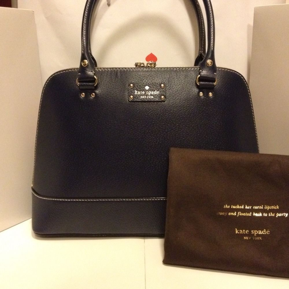 4aba3f1cf456 NWT Kate Spade Wellesley Rachelle Leather Shoulder HandBag Purse .