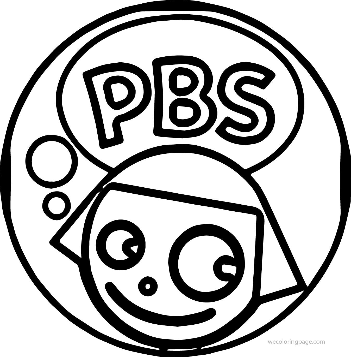 nice PBS Kids Dot Girl Circle Coloring Page | Coloring ...