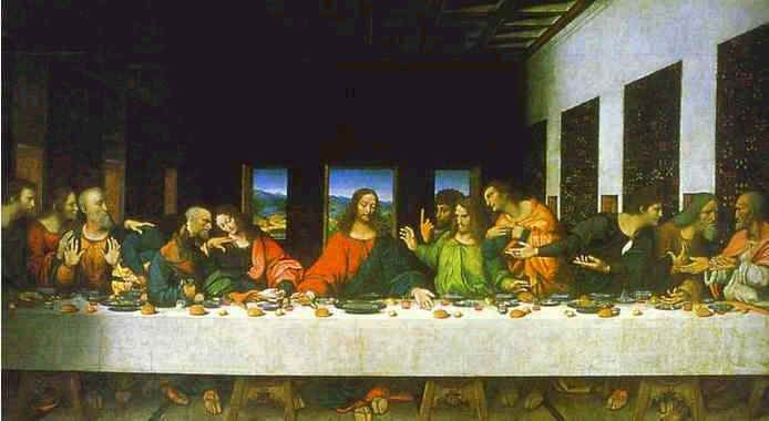 The Last Supper Masonic Symbols Copy Of Unknown Date Of The