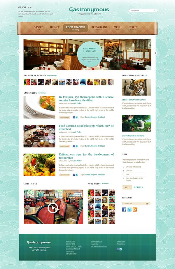 Gastronymous - Free PSD Template (Food and Restaurant | Restaurante ...