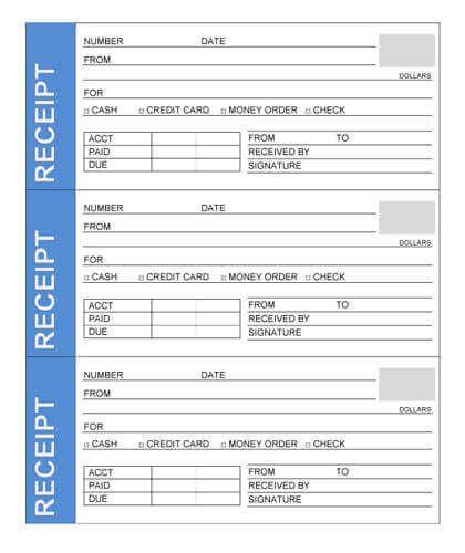 Sample Rent Receipt Receipt Template Free Receipt Template Templates
