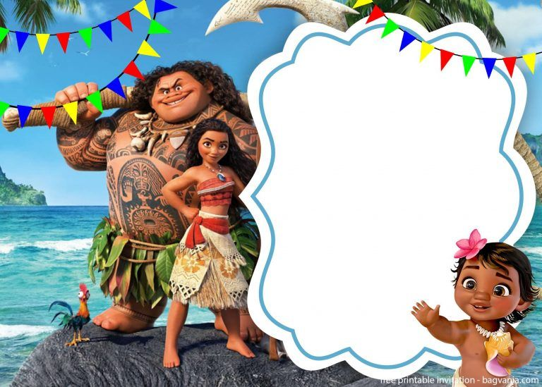 moana baby shower invitation template