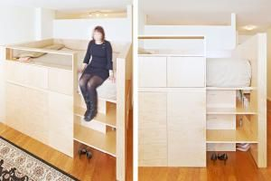Each of these grown-up loft beds makes the most of precious square footage.: A Loft Bed That Doubles as a Room Divider