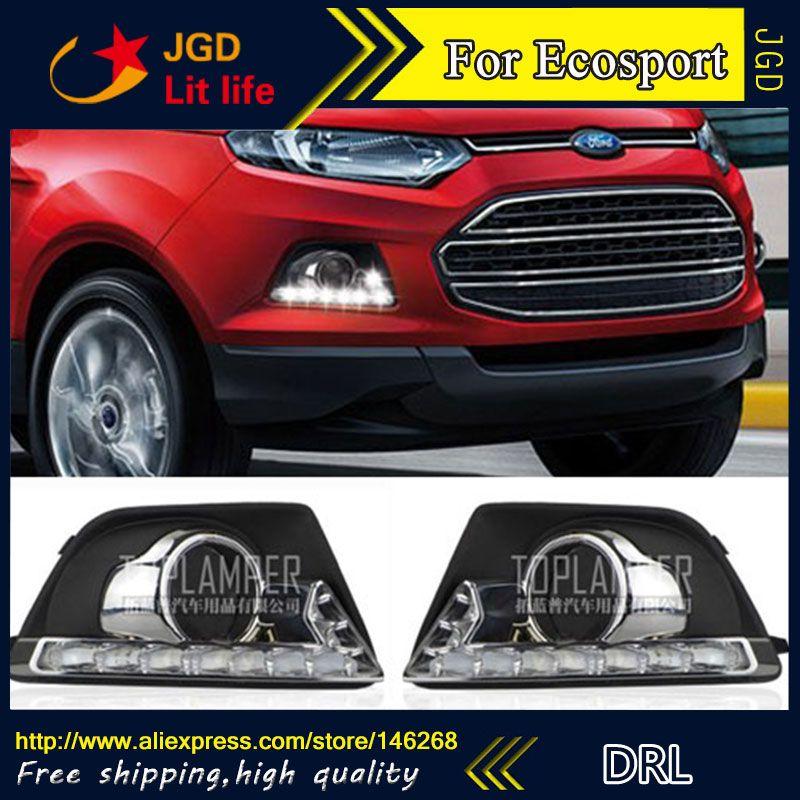 Free Shipping 12v 6000k Led Drl Daytime Running Light For Ford