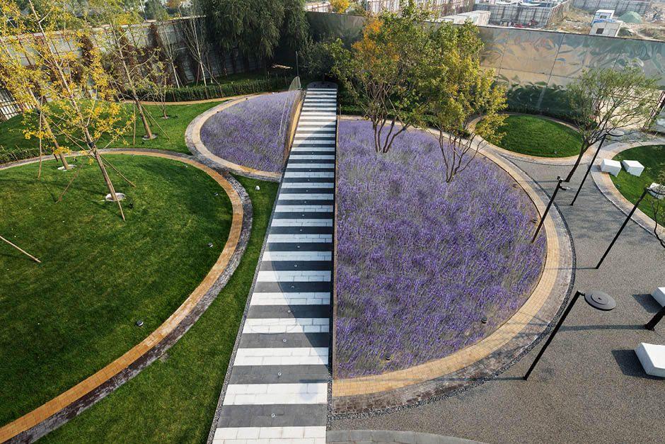 Bam Award Winning Art Landscape Architectural Design Vanke Daxing Showroom Landshaftnye Plany Ozelenenie Landshaftnaya Arhitektura