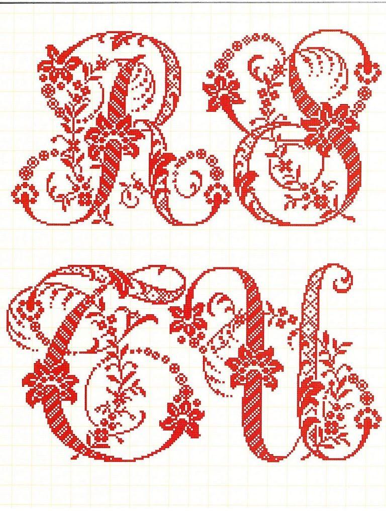 Épinglé par Karine Llorenté sur Canevas / Alphabet | Point de croix, Croix et Monogramme