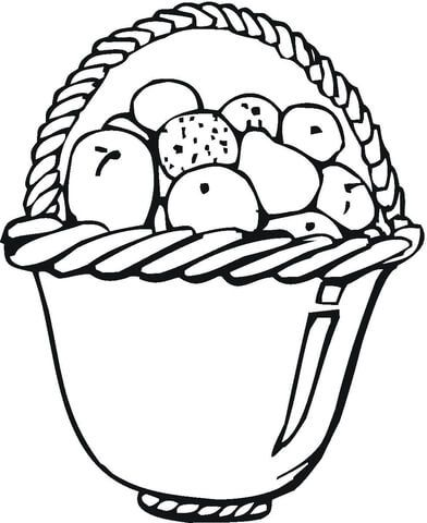 Apples In A Basket Coloring Page Apple Coloring Pages Apple