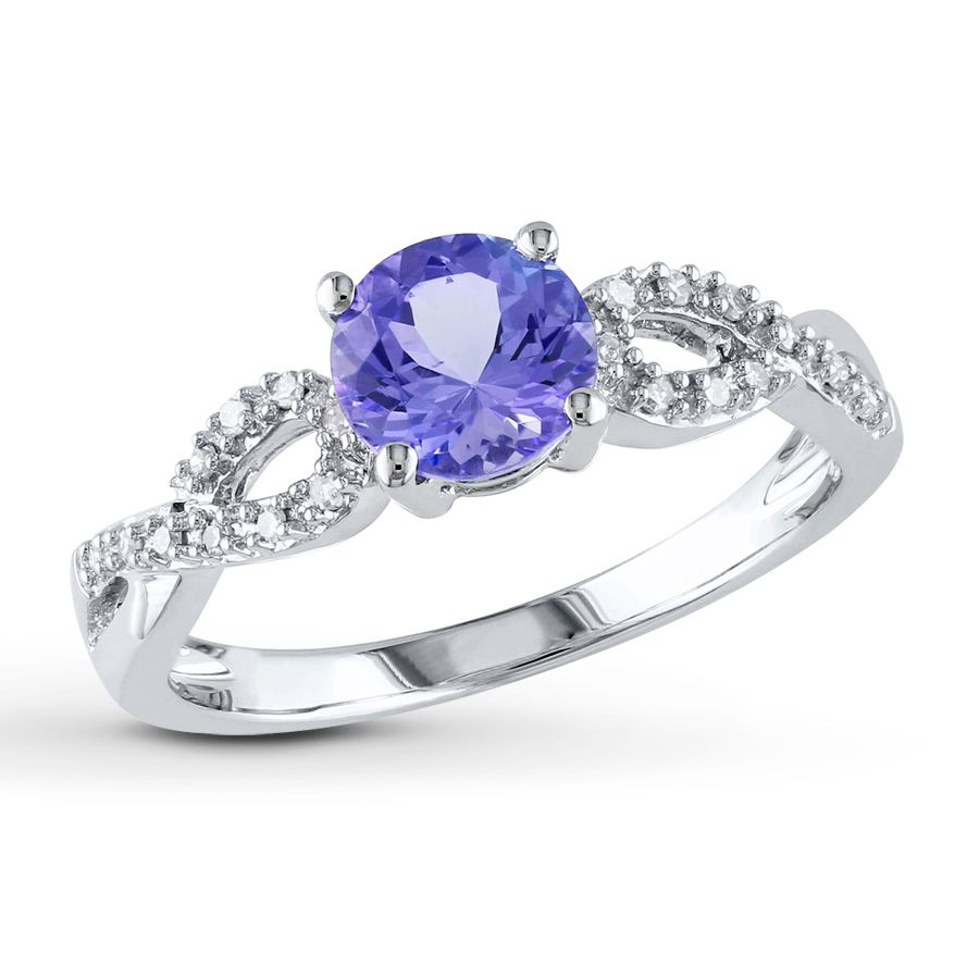 Diamond And Tanzanite Wedding Rings Inspiration Styles On Ring Design Ideas