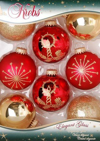 Weihnachts-Glaskugeln aus Krebs-Glas