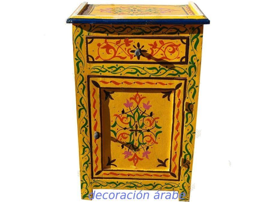 Mesa De Noche Estilo Arabe Diferentes Colores Mesitas De Noche Artesania Marroqui Dibujo Floral