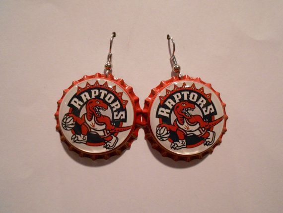 These Bottle Cap Earrings are Inspired by the Toronto Raptors #musicfestival #fashion trendhunter.com