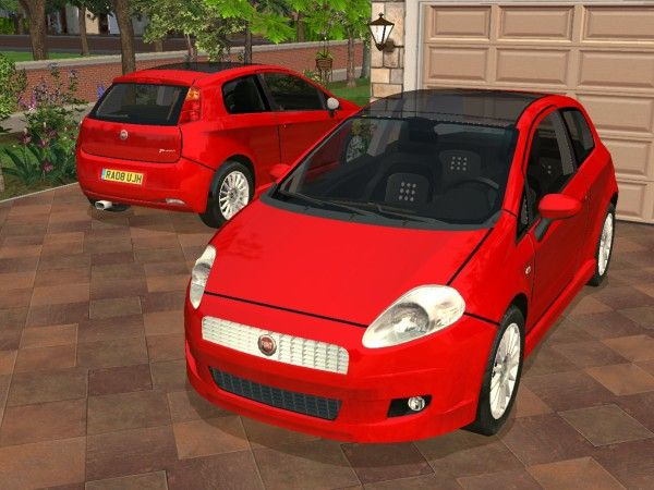 Modthesims 2008 Fiat Grande Punto Sims Sims 3 Mods Sims 4