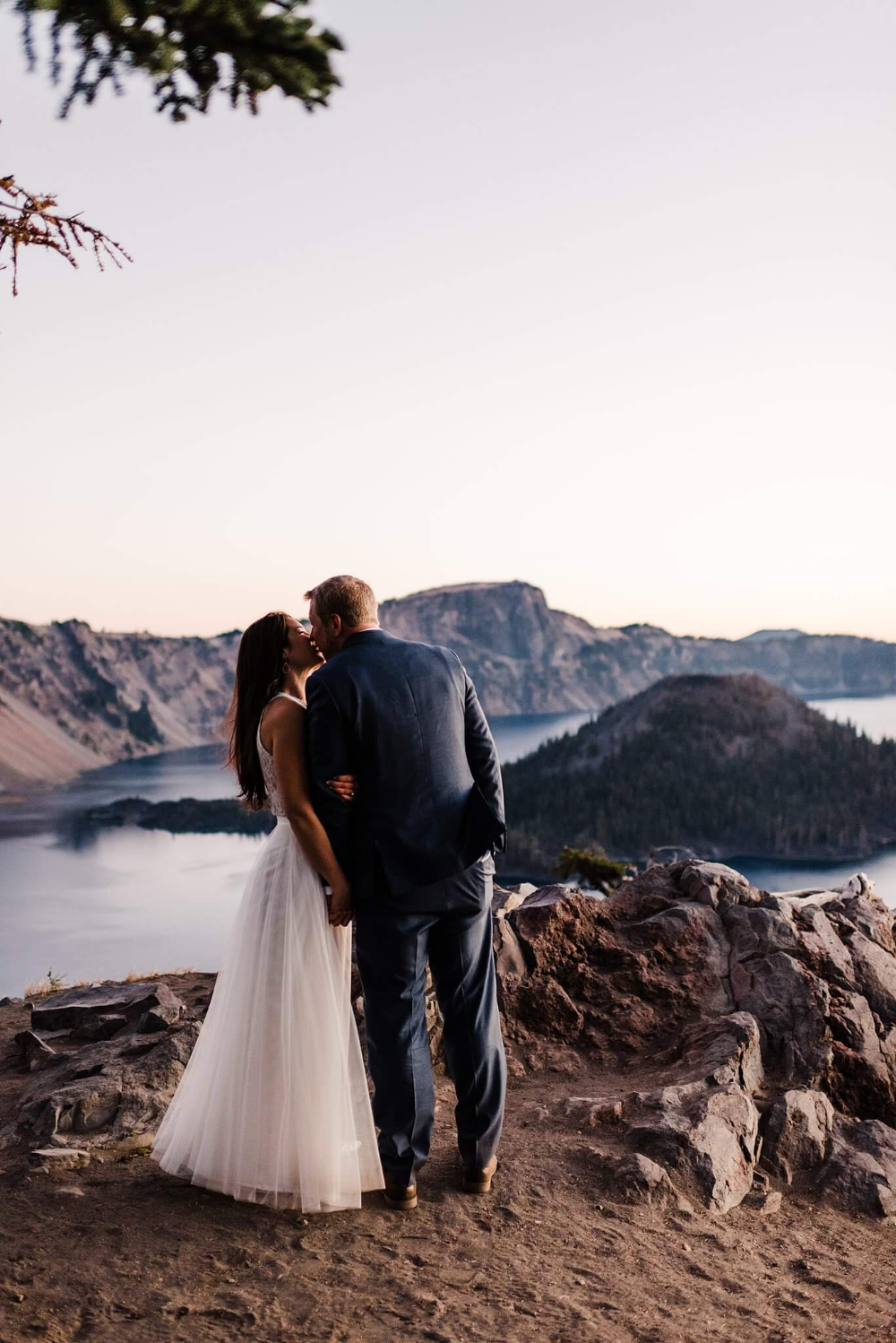 Romantic Sunrise Crater Lake Elopement | S Photography Elopements