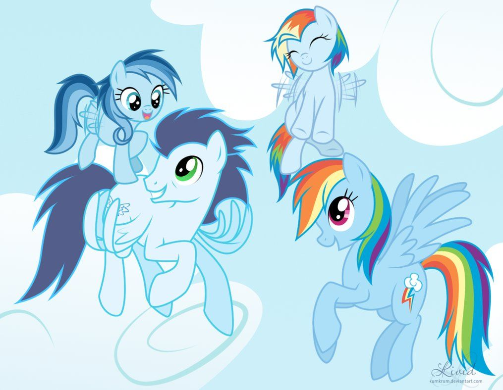 pictues of rainbow dashs parents rainbow dash mlp