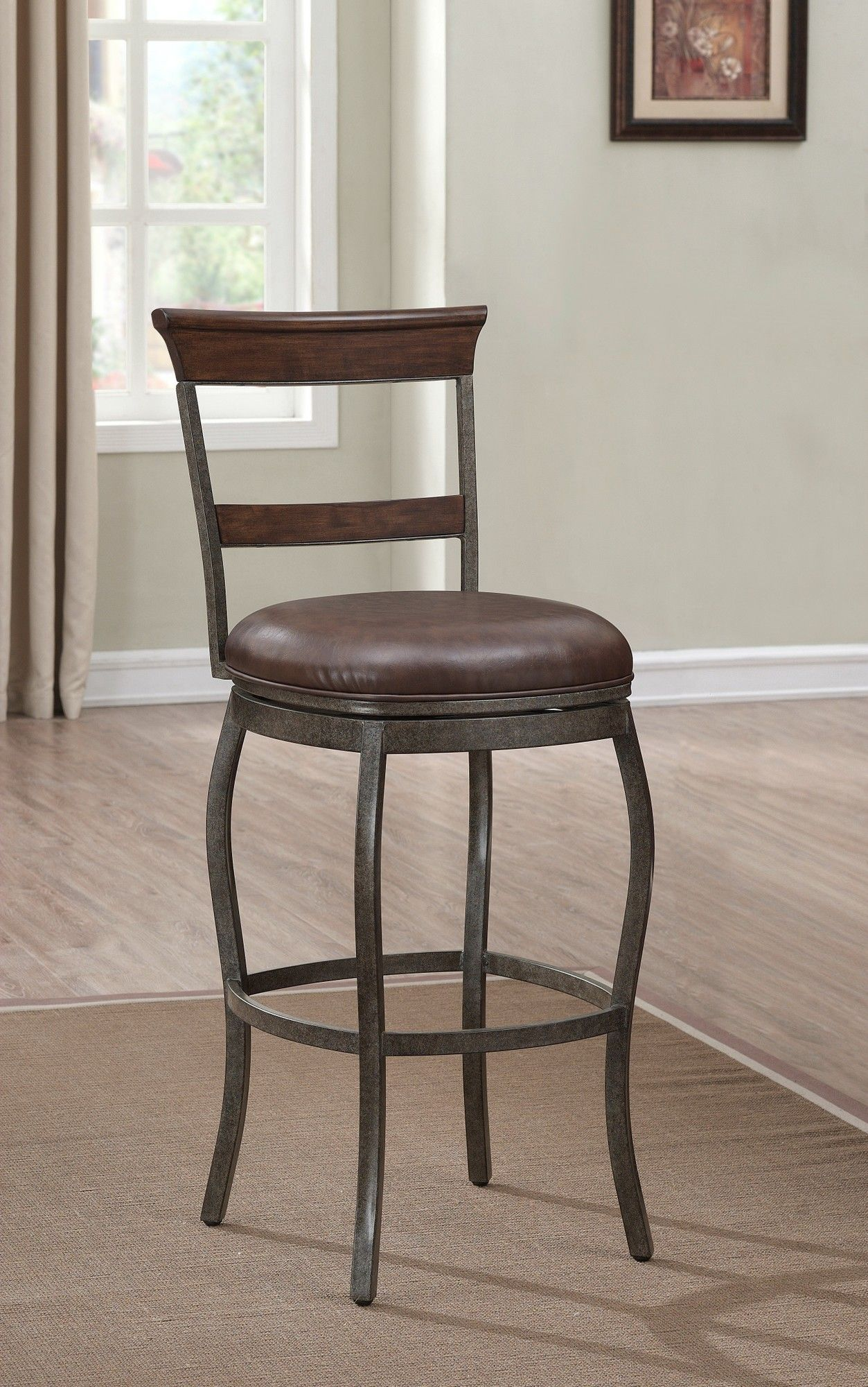Riverton 30 Swivel Bar Stool With Cushion