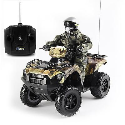 kids remote control car brute force 750 camoflauge quad toy vehicle 16 scale