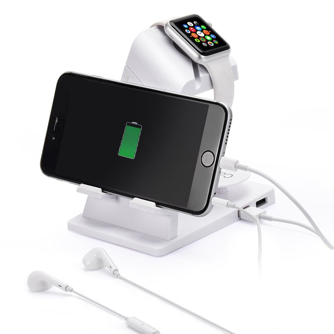 Apple Watch Stand,Itian charging station/Dock/Cradle A16 for Apple Watch,iPhone,iPad(White)