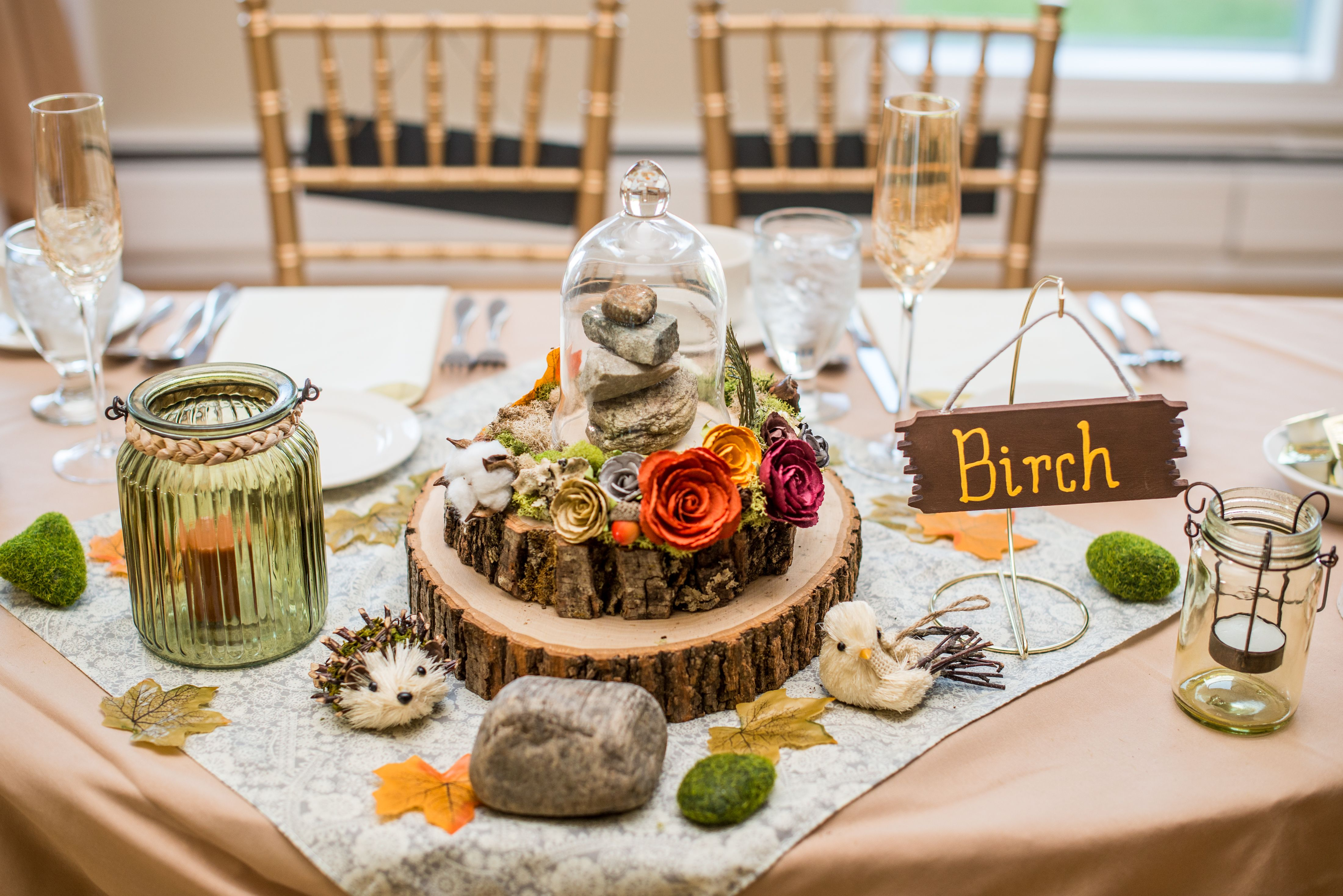Natural fall diy cairn hiking centerpieces madampaloozaemporium get inspired by fall wedding centerpieces then be sure to share your favorites with your nyc wedding florist junglespirit Image collections