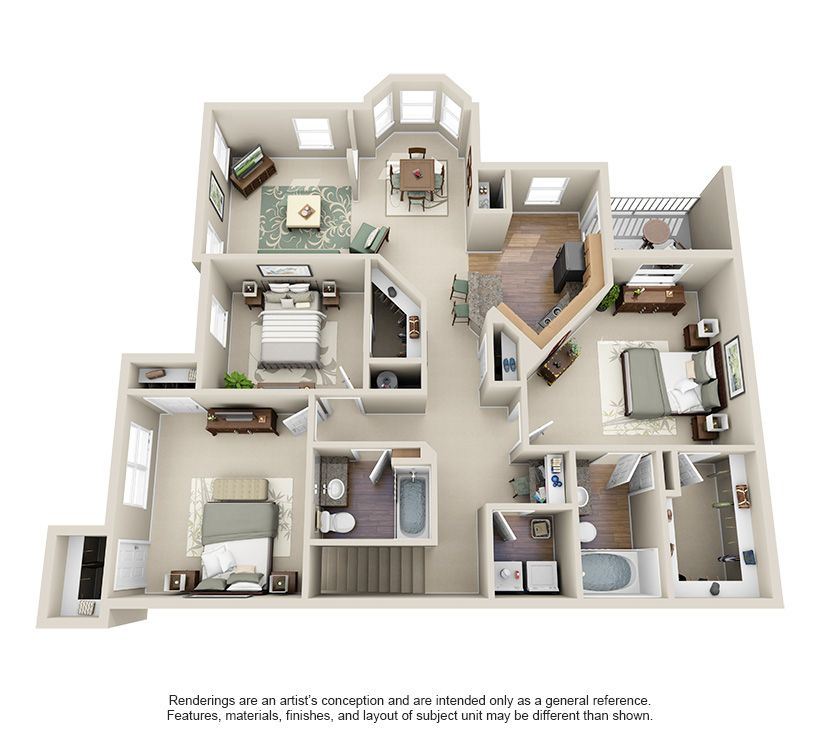 One Two Three Bedroom Apartments For Rent Villas At Huffmeister Houston Texas Apartment Steadfast Sims House Design Floor Plans House Plans