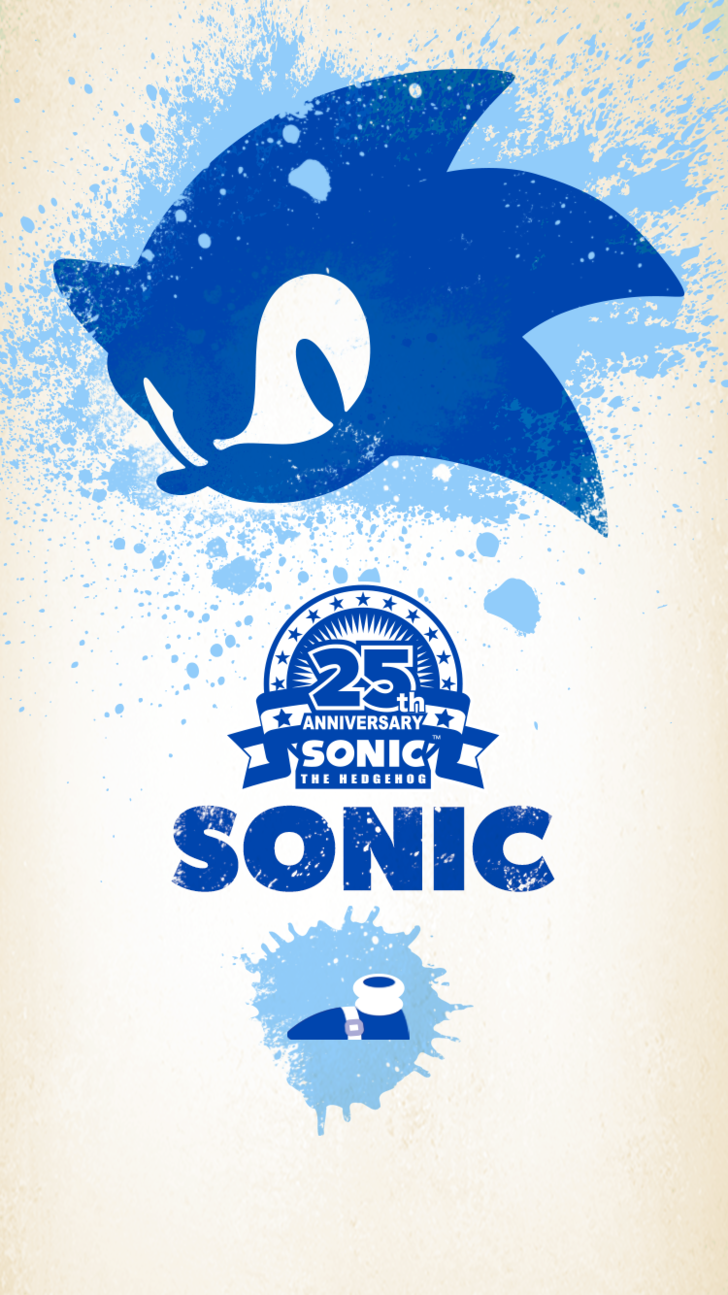 Sonic 25th Anniversary Mobile Wallpapers Sonic Stuff Sonic 25th