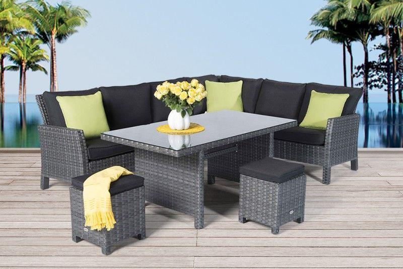 Bildergebnis für Dining Lounge Garten Sitzgruppe Hampton Rattan - gartenmobel rattan ausverkauf