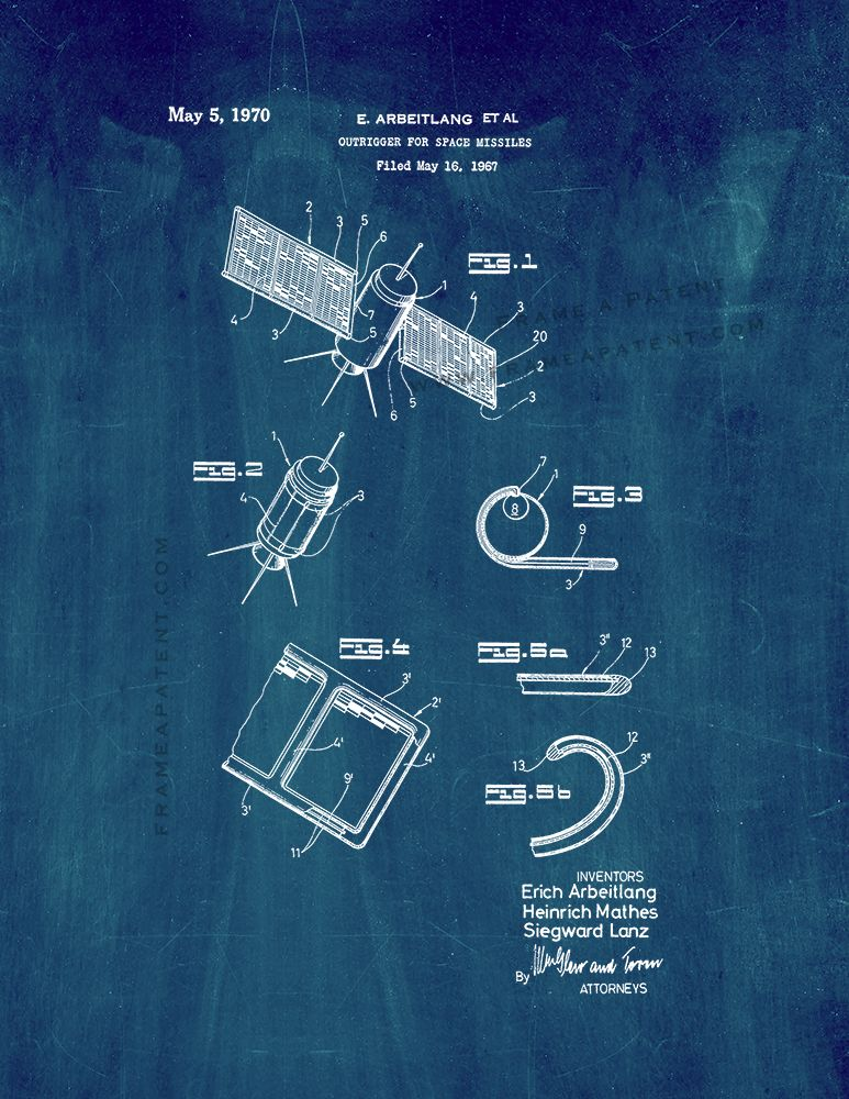 Pin by Frame a Patent on Space Patent Prints Poster