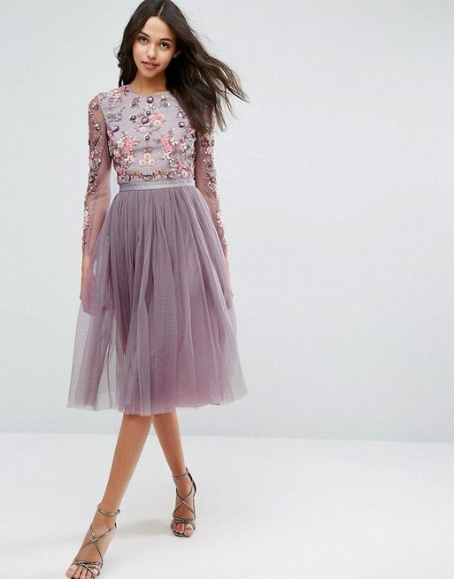 f087c2b393 Discover Fashion Online Asos Bridesmaid Dress, Wedding Bridesmaids, Purple  Floral Dress, Tulle Skirts